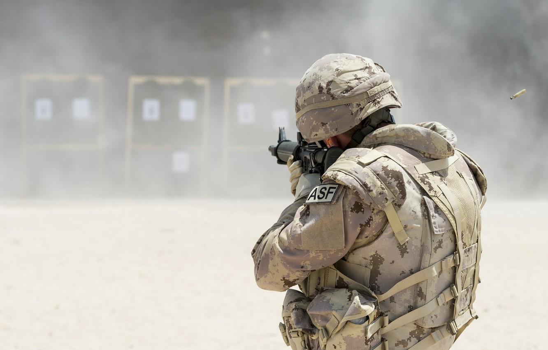 Фото обои оружие, солдат, тренировка, Canadian Army