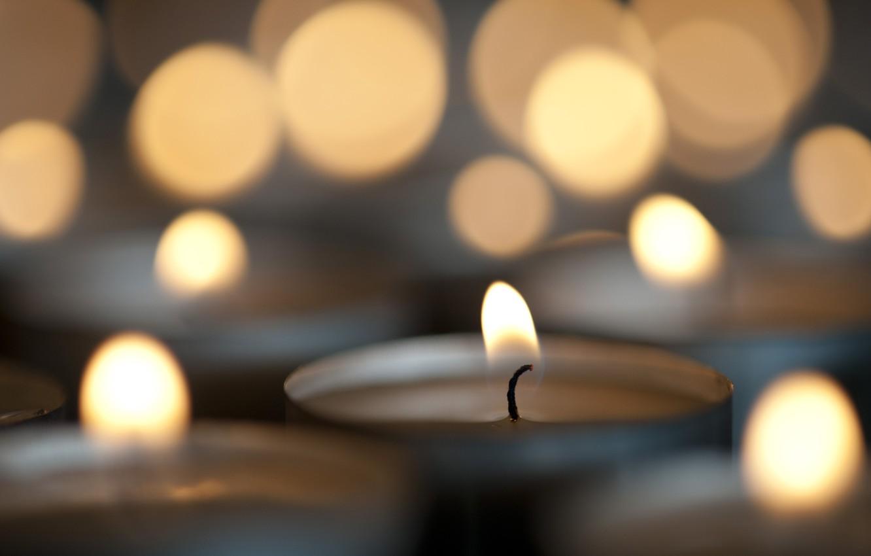Фото обои огонь, новый год, рождество, свечи, christmas, new year, боке