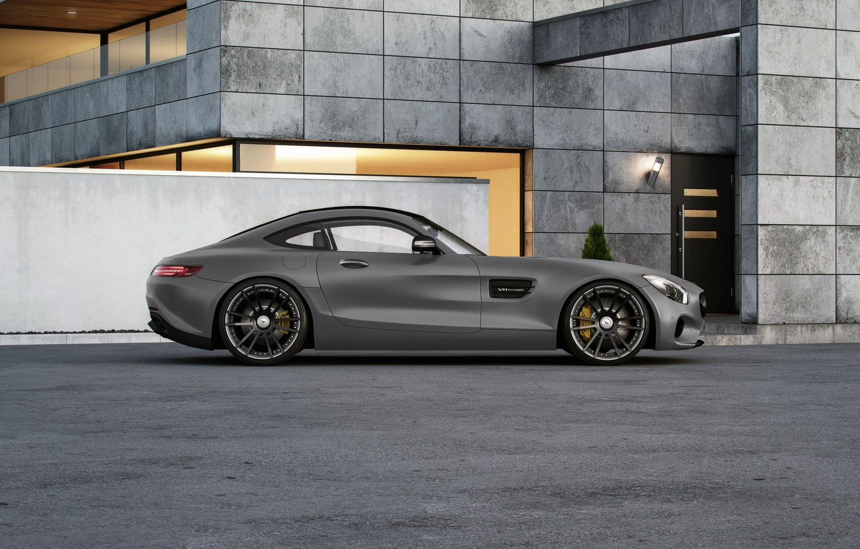 Фото обои Mercedes-Benz, AMG, Wheelsandmore, Grey, Side, Tuned, 600HP