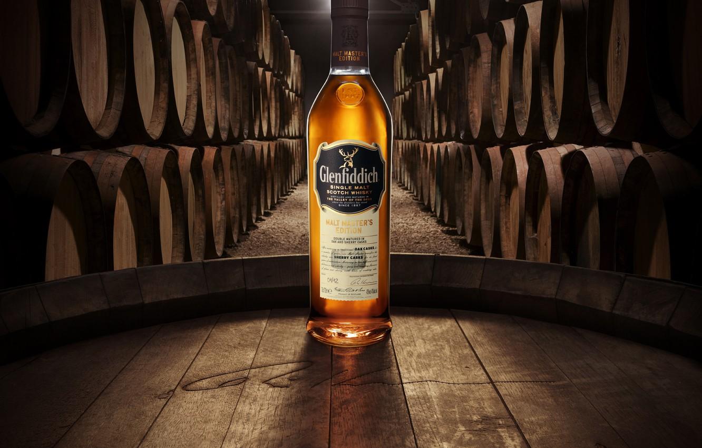 Фото обои олень, бочки, Виски, Scotland, односолодовый, single malt, glenfiddich