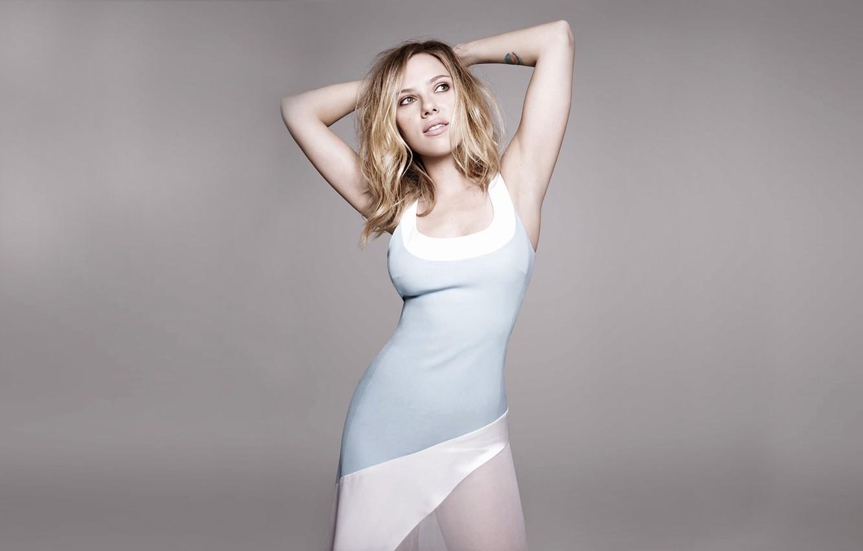 Фото обои Scarlett Johansson, журнал, фотосессия, Elle, британское издание