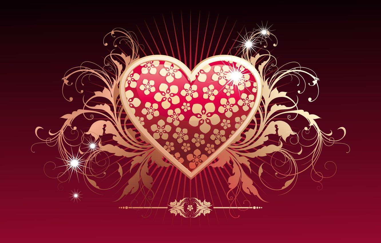 Фото обои любовь, сердце, вектор