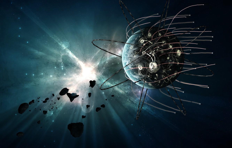 Фото обои спутник, вспышка, EXODUS