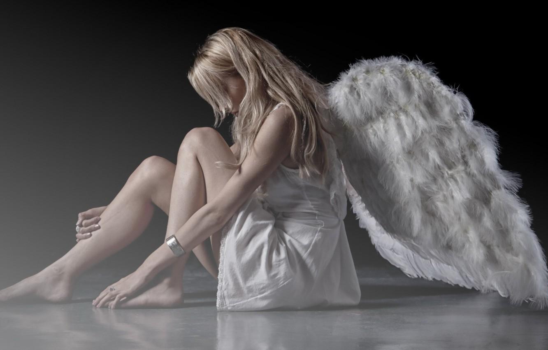 Фото обои девушка, крылья, ангел
