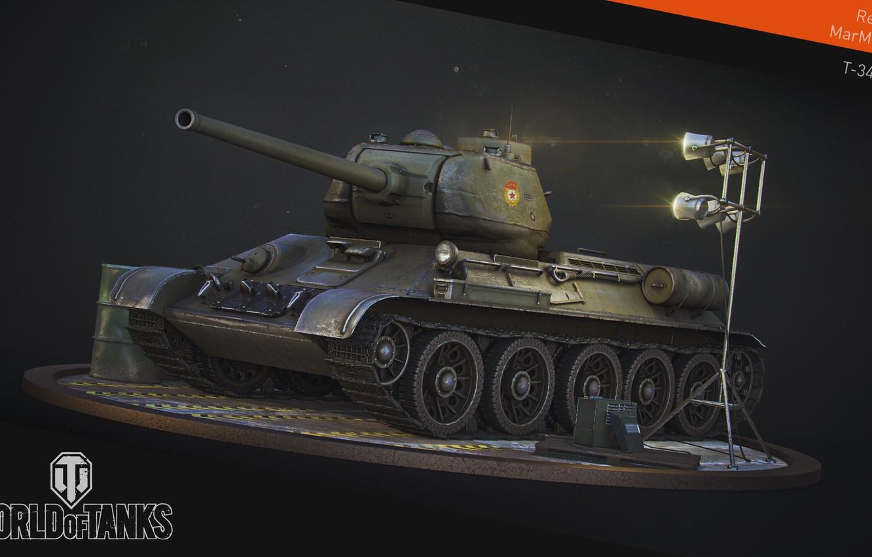 Фото обои танк, USSR, СССР, танки, WoT, Мир танков, tank, World of Tanks, tanks, Т-34-85, Wargaming.Net, BigWorld