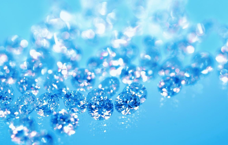 Фото обои синий, бриллианты