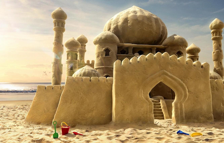 Фото обои песок, мечты, замок