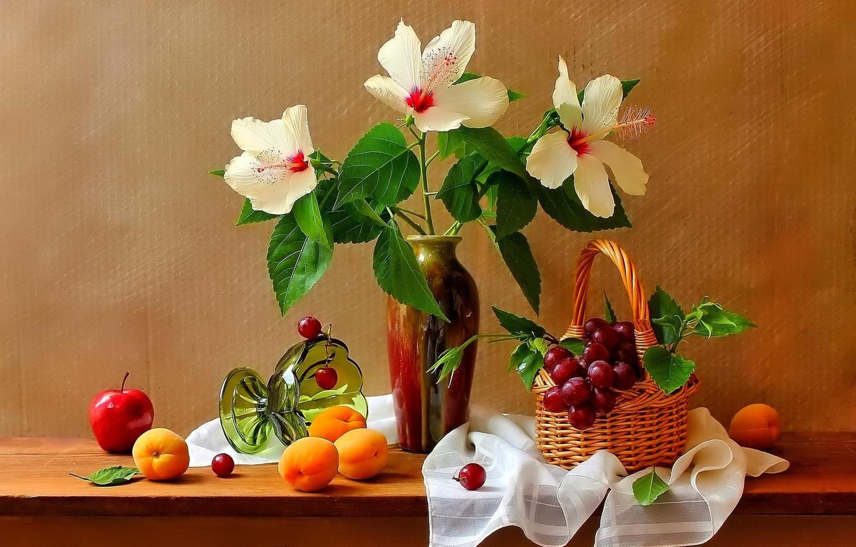 натюрморт фото фрукты цветы любви