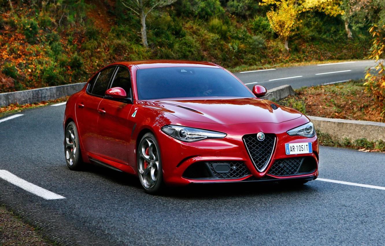 Фото обои Alfa Romeo, Альфа Ромео, Передок, Giulia