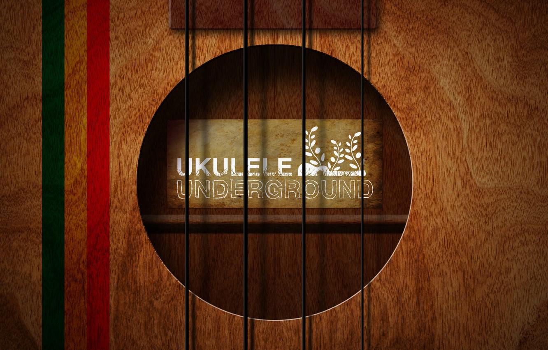 Фото обои стиль, музыка, фон, надпись, обои, гитара, струны, арт, underground, ukulele