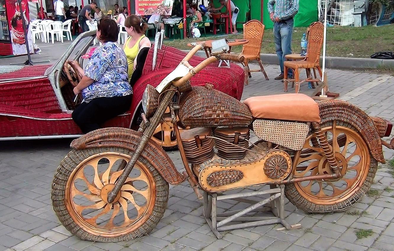 Фото обои лето, город, Мотоцикл