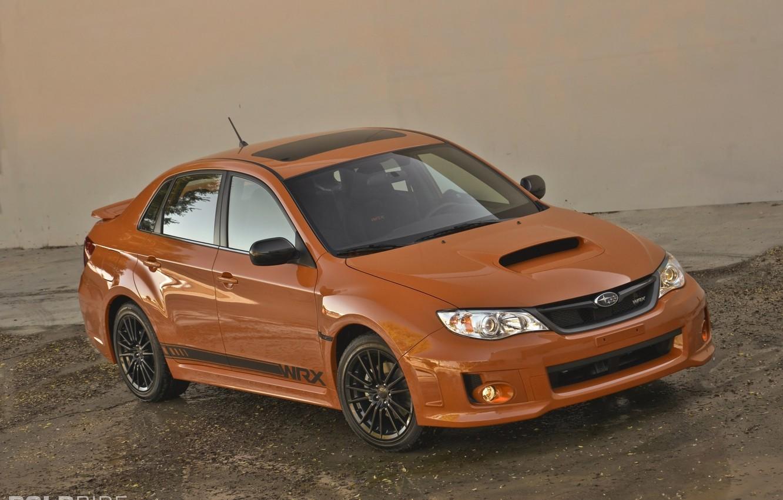 Фото обои Subaru, Impreza, WRX, Orange and Black