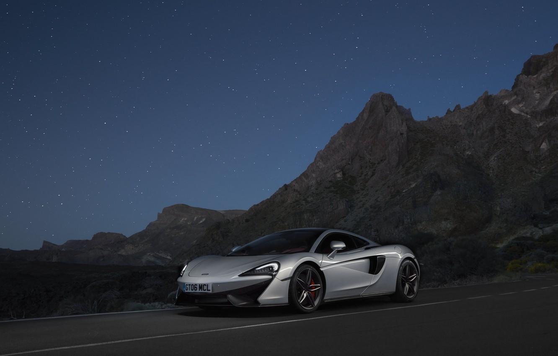 Фото обои McLaren, серебристый, silver, суперкар, supercar, макларен, 570GT