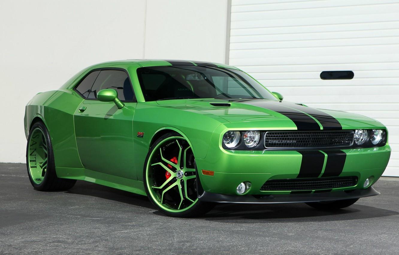 Фото обои green, Dodge, Challenger
