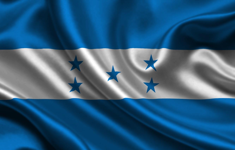 Фото обои Флаг, Текстура, Flag, Honduras, Республика Гондурас, Гондурас