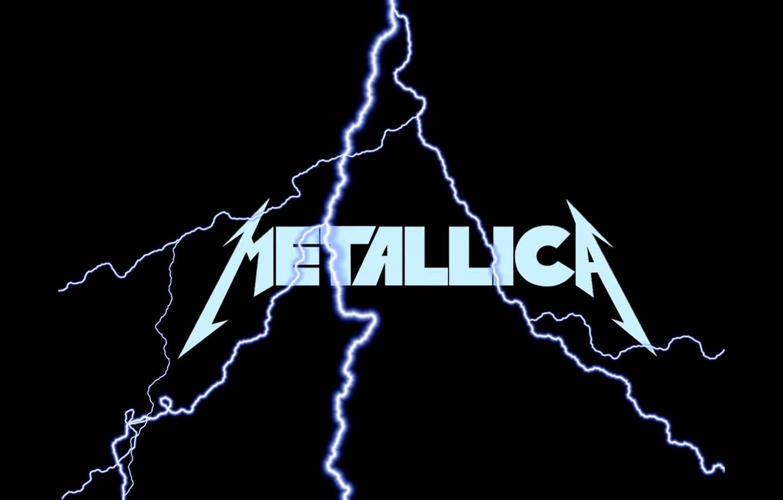 Фото обои музыка, молния, music, лого, logo, Rock, Рок, Metallica, трэш-метал, thrash metal, тяжелый рок, hard rock, …