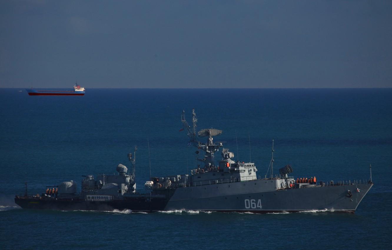 """Фото обои корабль, ВМФ, противолодочный, малый, Черное море, МПК, """"Муромец"""""""