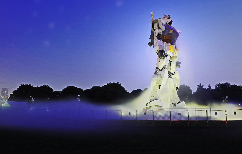 Фото обои Japan, anime, robo, Gundam, statua