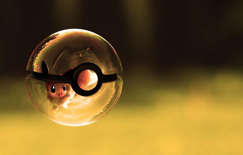 Фото обои стеклянный, корабль, шар, покемон