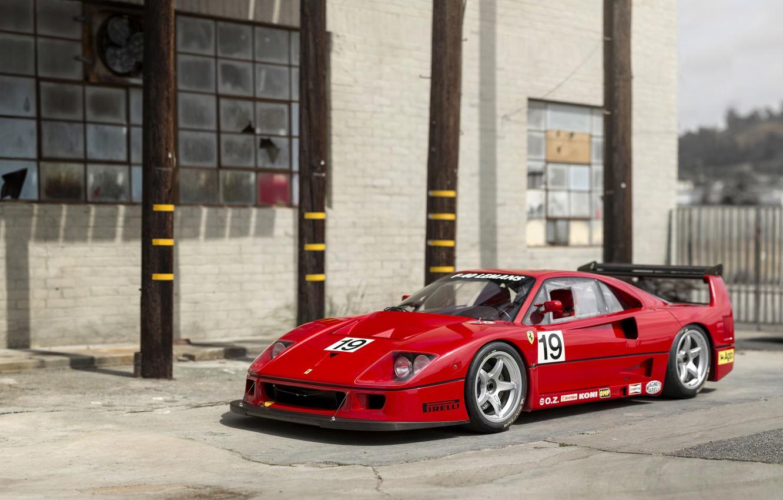 Фото обои Красный, Ретро, Тюнинг, Ferrari, F40, Автомобиль, Металлик, by Michelotto Pininfarina, LM, 1988-94, 1994 Ferrari F40 …