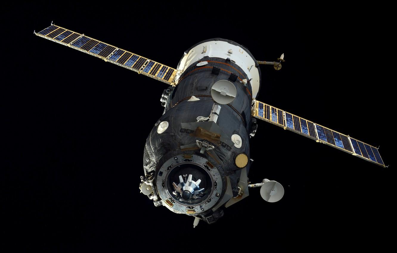 """Фото обои космос, корабль, Грузовой, """"Прогресс М-27М"""""""