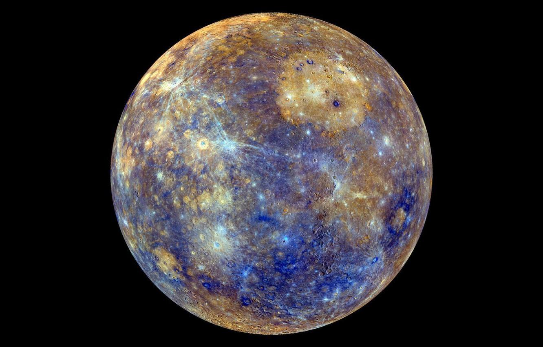 Фото обои поверхность, planet, кратеры, меркурий, Mercury