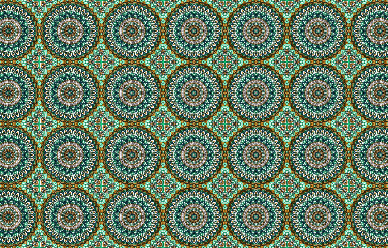 Фото обои круги, зеленый, узор, орнамент
