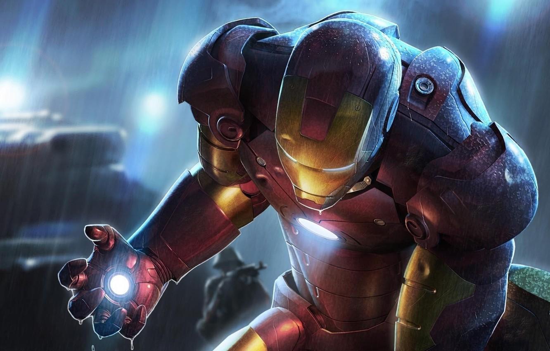 Фото обои красный, IRON MAN, Железный человек