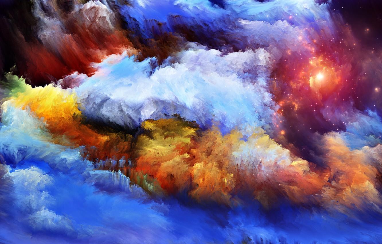 Обои свет, дым, Пятна, краски, яркость. Абстракции foto 6
