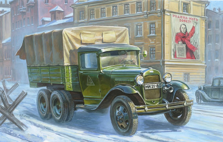 Обои truck, грузовой, повышенной, проходимости, автомобиль. Автомобили foto 18