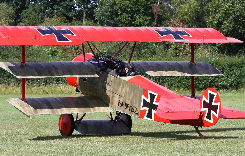 Обои сил, триплан, Fokker dr.1, военно-воздушных, истребитель. Авиация foto 12
