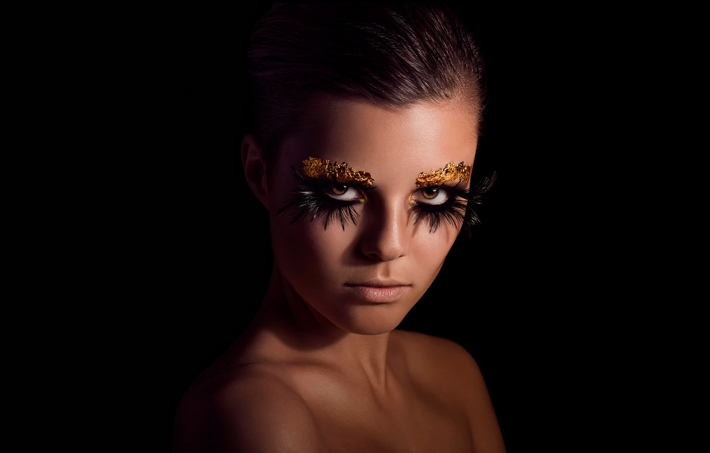 Фото обои портрет, макияж, Becki Lily, extreme meake-up
