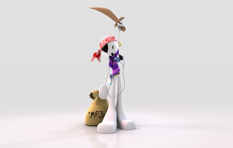 Фото обои фон, меч, Пират, мешок, mp3