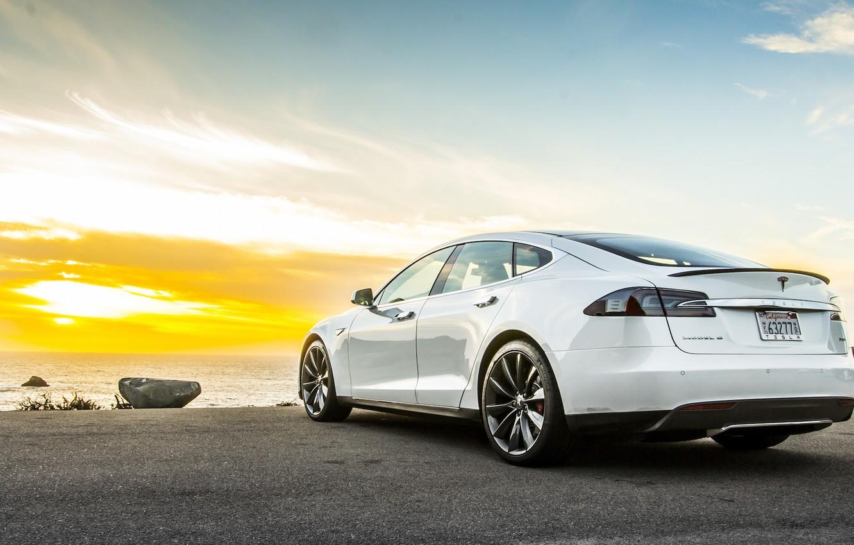 Фото обои Tesla, Model S, тесла, электрокар