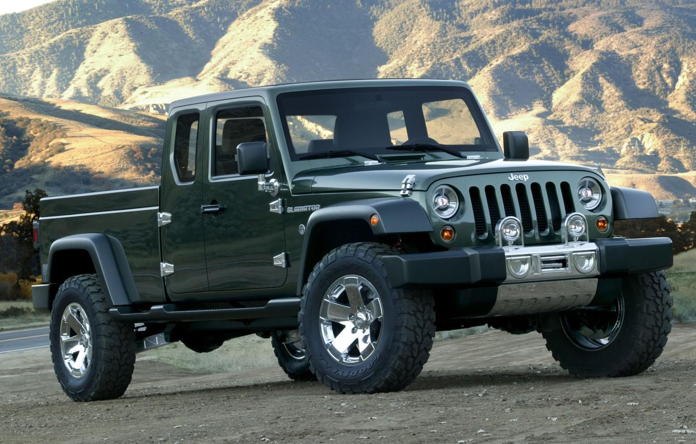 Фото обои Concept, джип, концепт, Gladiator, гладиатор, Jeep