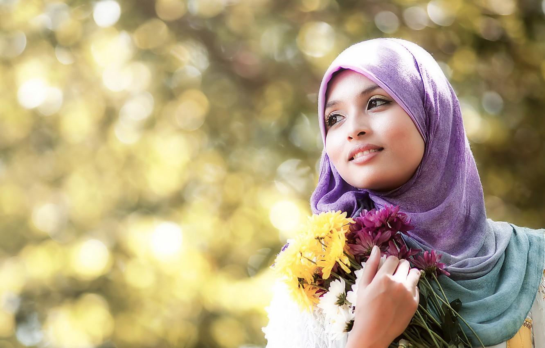Фото обои девушка, цветы, Lolli IKeen