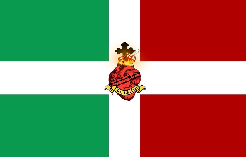 Фото обои green, fire, red, white, Italy, heart, cross, flag, flags, Italia, latin, Jesus, Jesus Christ, pax