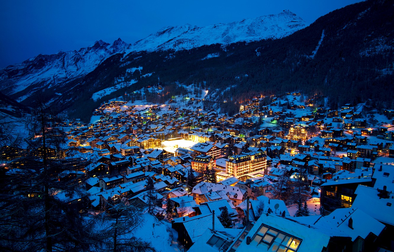 Обои швейцария, swiss alps, zermatt, долина, дома, альпы. Пейзажи foto 6