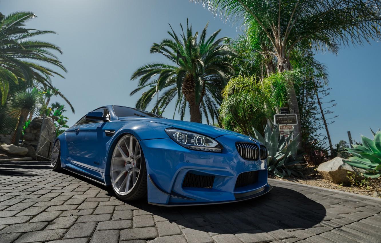 Фото обои BMW, Blue, Series, Vossen, Widebody