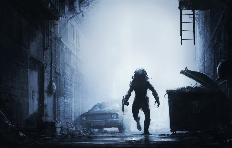 Фото обои машина, ночь, туман, мусор, серость, улица, хищник, воин, охота, street, predator, hunt, SID75, Vitaliy Smyk