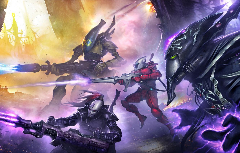 Фото обои War, Eternal Crusade, Warhammer 4000, эльдар
