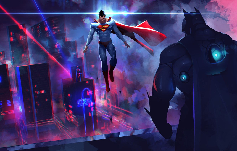 Фото обои batman, superman, dc comics, bruce wayne, clark kent, Batman v Superman: Dawn of Justice