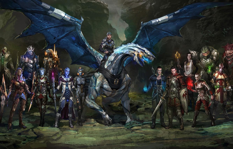 "Фото обои Mass Effect, Shepard, Jack, Jeff ""Joker"" Moreau, Liara T'Soni, Subject Zero"