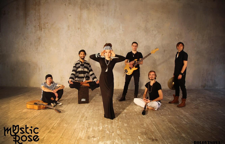 Фото обои музыка, гитара, группа, Азиза Ибрагимова, этно, Mystic Rose