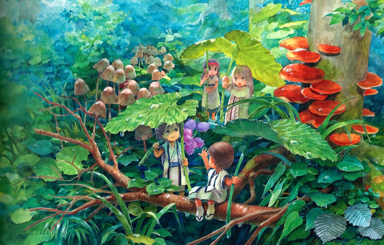 Фото обои дождик, детство, фентези, сказка