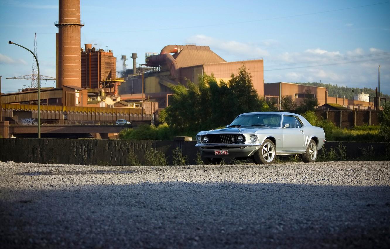 Фото обои Mustang, Ford, 1969