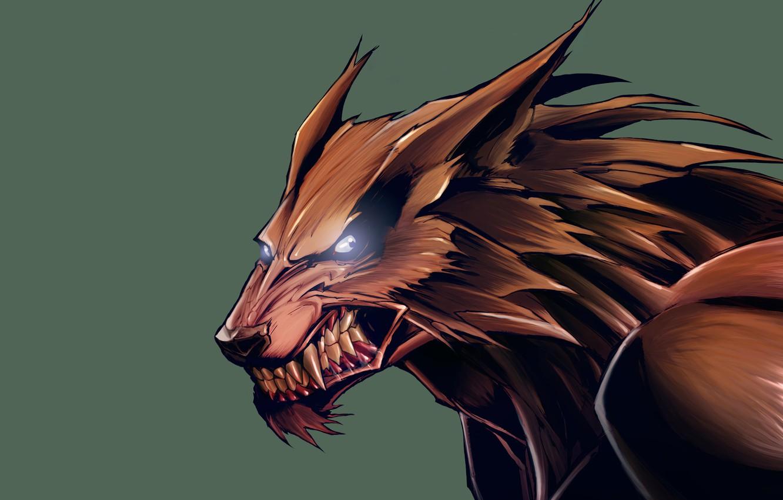 Обои рычит, Оборотень, werewolf, wolf. Разное foto 9