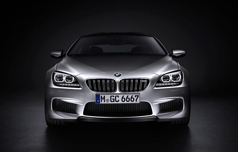 Фото обои Авто, BMW, Машина, Лого, Серый, БМВ, Серебро, Капот, Фары, Номер, Передок
