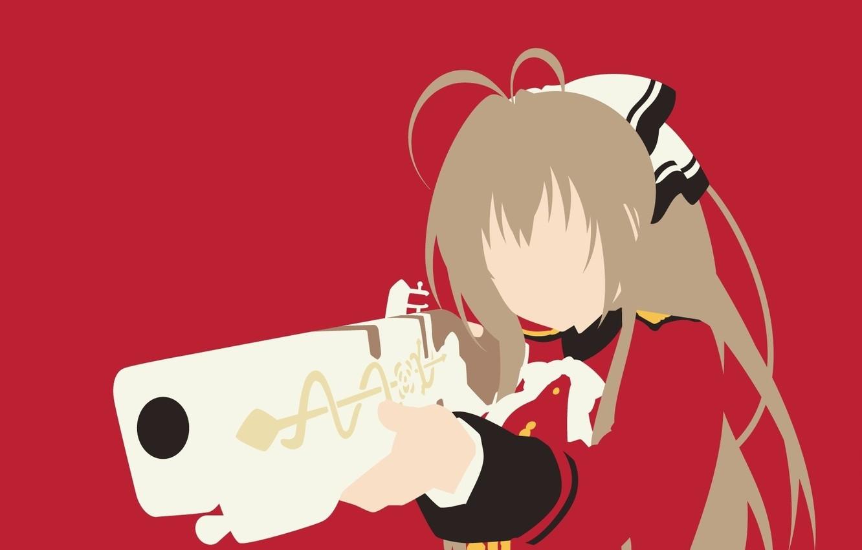 Фото обои kawaii, wallpaper, red, girl, gun, pistol, rose, game, snake, weapon, anime, beautiful, pretty, blonde, asian, …