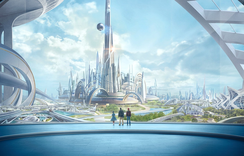 Фото обои город, люди, фантастика, Tomorrowland, Земля будущего
